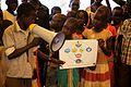 Children participate in hygiene learning sessions inside UN House, Juba, South Sudan (12317647764).jpg