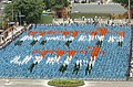 Children sitting in the formation of 'Satyamev Jayate' at Red Fort grounds on the occasion of 59th Independence Day in Delhi on August 15, 2005.jpg