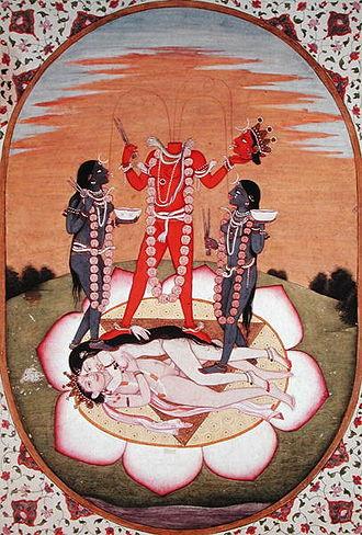 Chhinnamasta - Kangra painting (c. 1800 CE) of Chhinnamasta.