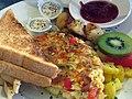Chorizo omelette breakfast (2878373527).jpg
