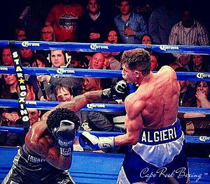 Chris Algieri - Algieri (right) vs. Emmanuel Taylor, 2014