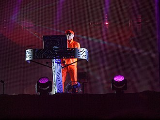 Pet Shop Boys - Chris Lowe performing at Pori Jazz in Finland in 2014.
