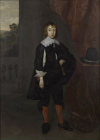 Government Art Collection - A painting of Christopher Hatton, 1st Viscount Hatton by Cornelis Janssens van Ceulen, one of the works of art held by the Government Art Collection
