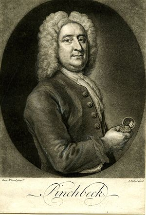 Christopher Pinchbeck - Print made by John Faber the Younger, after Isaac Whood