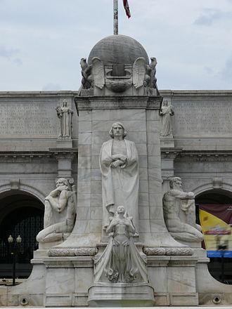 Columbus Fountain - Image: Christopher columbus union square