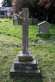 Church of St Mary and St Christopher, Panfield - cross monument with dove.jpg