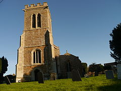 Church tower of St Andrew, Old, Northamptonshire.jpg