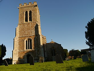 Old, Northamptonshire - Image: Church tower of St Andrew, Old, Northamptonshire