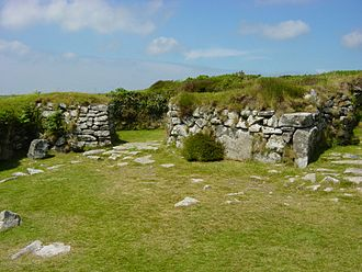 Timeline of Cornish history - Rooms in a building within Chysauster village