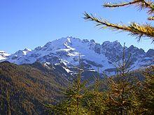 I monti della Valtellina.