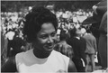 Civil Rights March on Washington, D.C. (A young woman at the march.) - NARA - 542027.tif