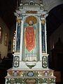 Cléden-Poher 18 église Petit retable de saint Pierre.jpg