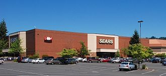 Clackamas Town Center - The Sears store, located at the mall's west end