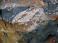 Clast-rich impact pseudotachylite (Sudbury Breccia, Paleoproterozoic, 1.85 Ga; Windy Lake Northwest roadcut, Sudbury Impact Structure, Ontario, Canada) 51 (46968824574).jpg
