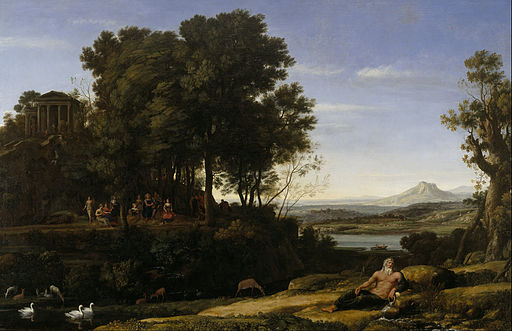 Claude Lorrain (Claude Gellée) - Landscape with Apollo and the Muses - Google Art Project