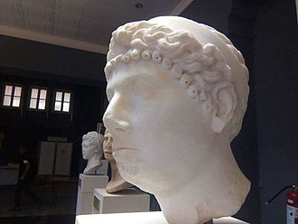 Ptolemy of Mauretania - An ancient Roman bust of Cleopatra Selene II, Archaeological Museum of Cherchell, Algeria