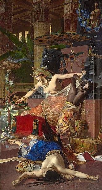 Julius Kronberg - Cleopatra by Julius Kronberg, 1883