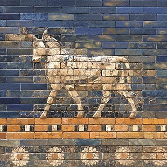 Ishtar Gate - Close-up of an aurochs from the Ishtar Gate