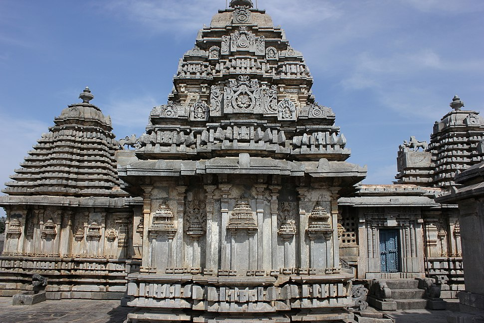 Close up view of shrines at Lakshmi Devi temple complex at Doddagaddavalli