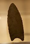Clovis spear point, British Museum.jpg