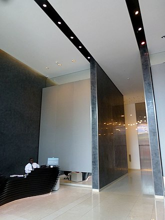 Strata SE1 - The lobby in August 2012.