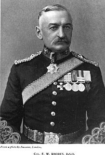 Frank Rhodes (British Army officer) British soldier and colonial governor