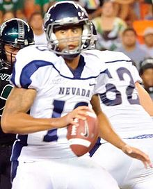 Colin Kaepernick in 2010 with Nevada