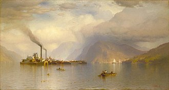 Samuel Colman - Storm King on the Hudson (1866) is one of Colman's best known works