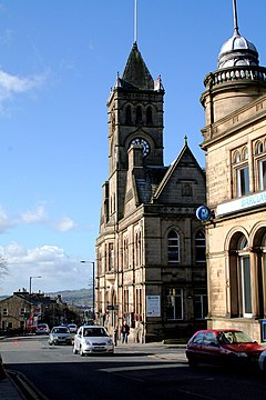 Colne, Lancashire, Town Hall looking west - geograph.org.uk - 1730212.jpg