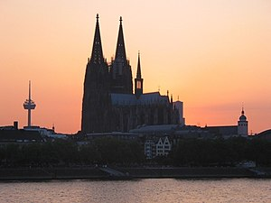 Cologne Cathedral at Sunset