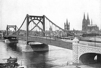 Deutz Suspension Bridge - Deutz Suspension Bridge in 1925