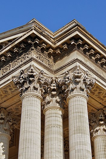 English: neo classical columns and capitals of...