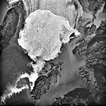 Columbia Glacier, Calving Terminus, Heather Island, September 14, 1988 (GLACIERS 1429).jpg