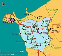 peniche mapa Península de Peniche – Wikipédia, a enciclopédia livre peniche mapa