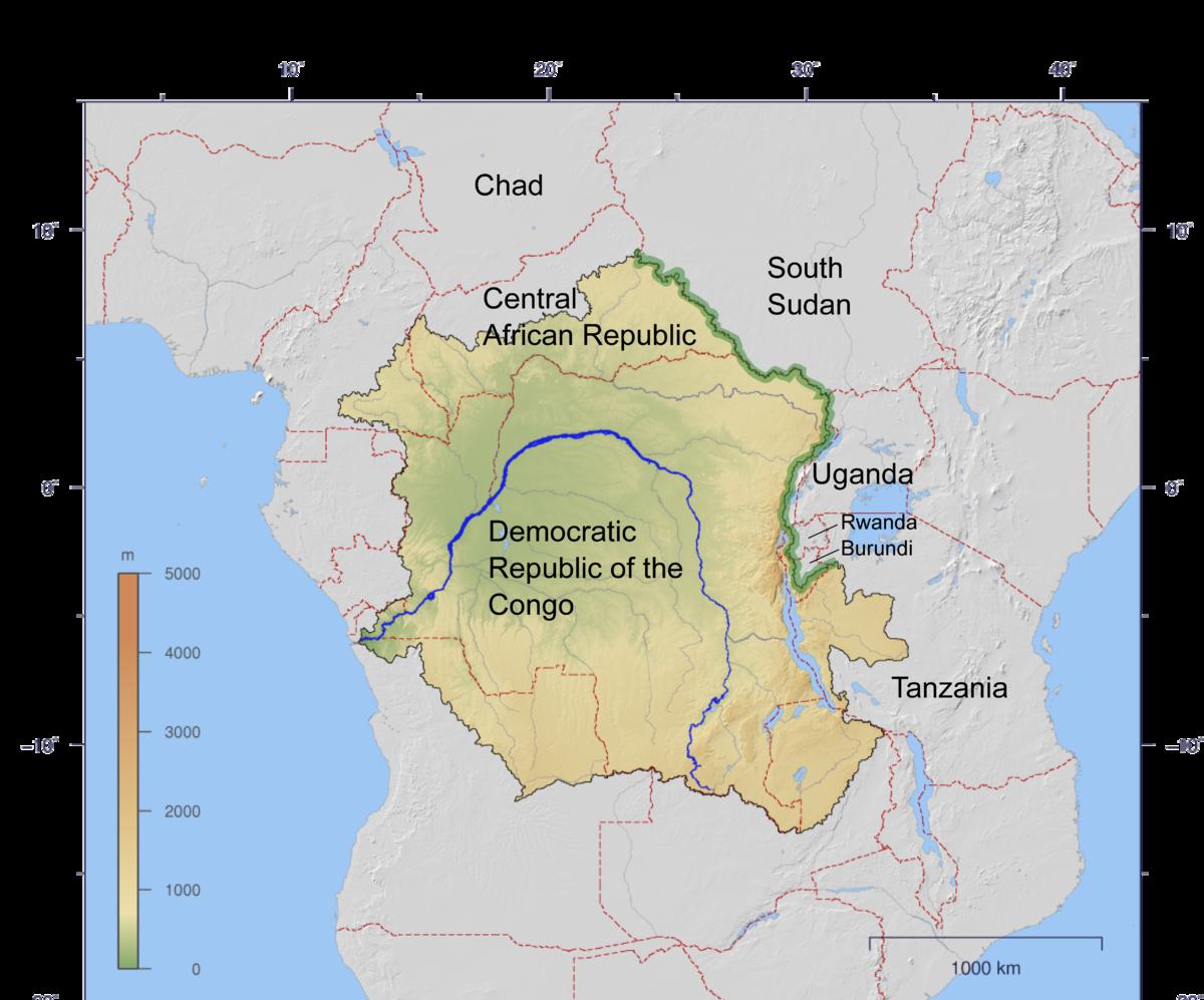 CongoNile Divide Wikipedia - World map congo river