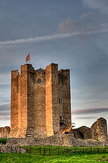 Conisbrough town in South Yorkshire, England, United Kingdom