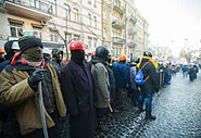 Protesters surround the Ministry of Justice, Kiev, 27 January 2014