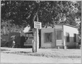 Contra Costa County, California. Entrance to Davis Auto Camp. Family with 10 children live in the tr . . . - NARA - 521779.tif