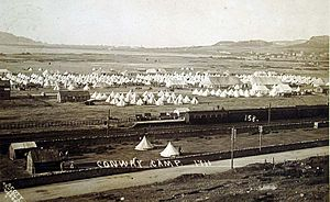 Military camp - Image: Conway Camp 1911