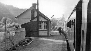 Cynwyl Elfed - Cynwyl Elfed railway station in 1962
