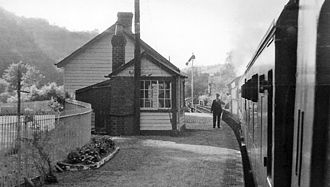 Carmarthen and Cardigan Railway - Conwil Station in 1962