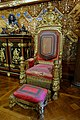 Coronation chair of William IV - State Music Room, Chatsworth House - Derbyshire, England - DSC03203.jpg