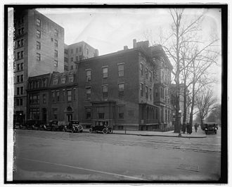 Cosmos Club - Cosmos Club, ca. 1921, before its move to the Townsend house