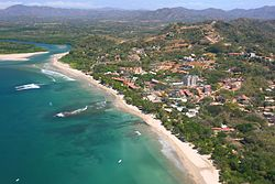 Costa Rica Playa Tamarindo and Rivermouth 2007 Aerial Photograph Tamarindowiki 01.JPG
