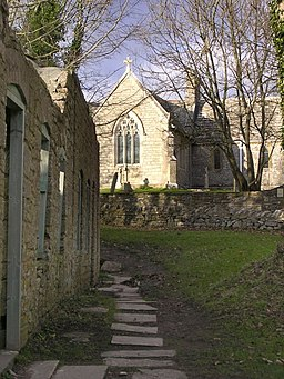 Cottages and church, Tyneham - geograph.org.uk - 319282