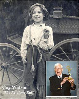 Coy Watson Jr. American child actor of the silent era