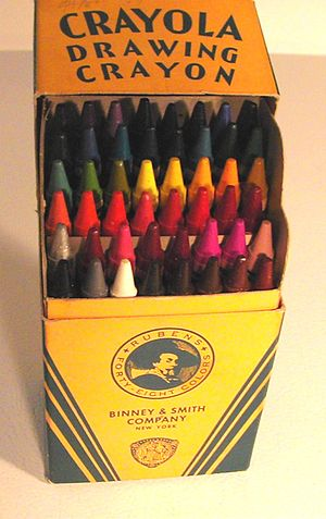 The first version the Crayola No.48 box (open)