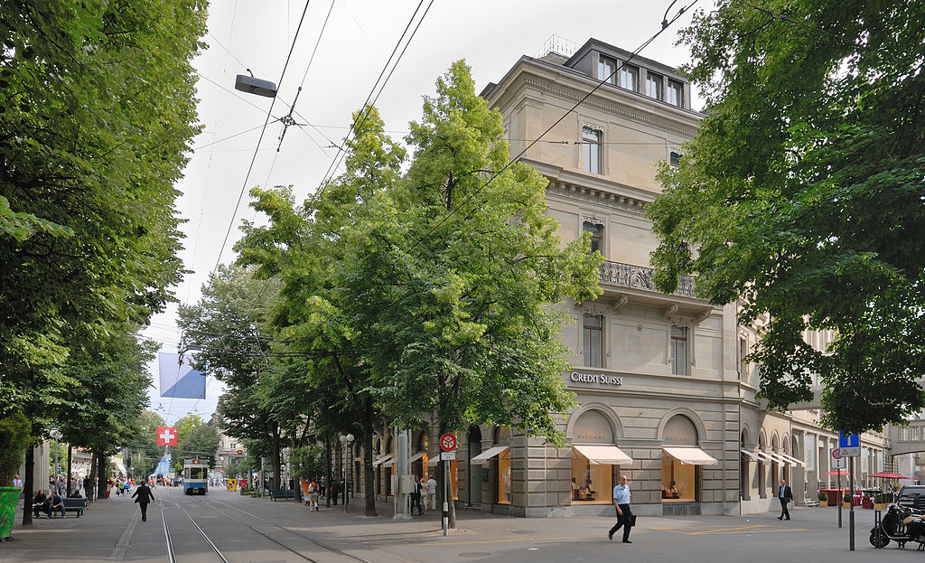 credit suisse zurich. Credit Suisse Group corporate headquarters. The address is Paradeplatz 8 in