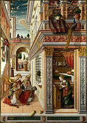 Carlo Crivelli: The Annunciation, with Saint Emidius