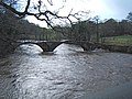 Cromwell's Bridge during a Flood - geograph.org.uk - 963527.jpg